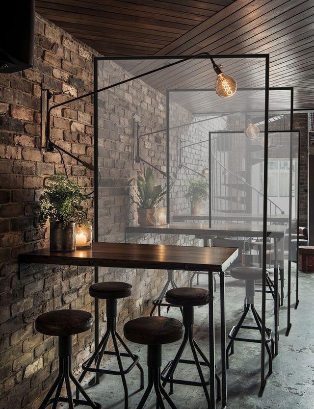 Pannelli divisori di protezione per bar